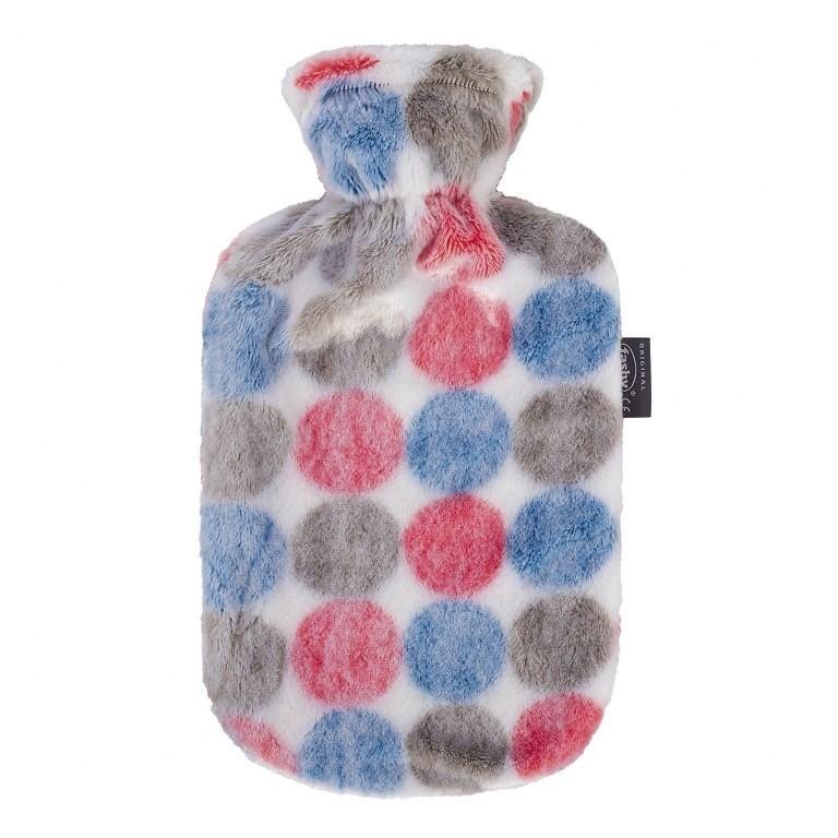 Fashy kruik 2 liter | Met pluche overtrek | Stippen design